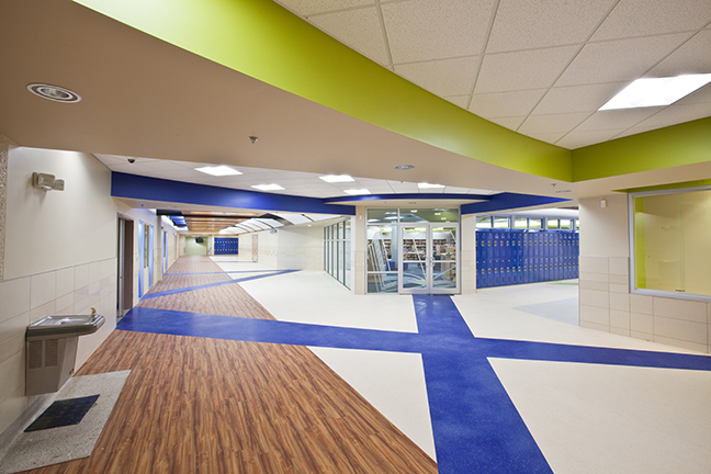 Timberlake Construction project - Whittier Middle School